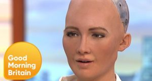 Humanoid Robot Tells Jokes on Good Morning Britain